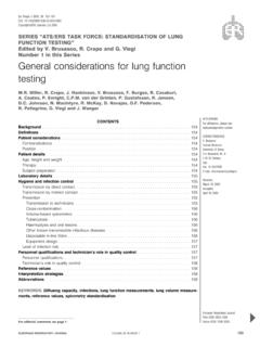 General considerations for lung function testing