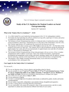 Study of the U.S. Institutes for Student Leaders on …