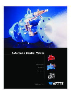 Automatic Control Valves - Watts