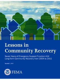 Lessons in Community Recovery - Home | FEMA.gov