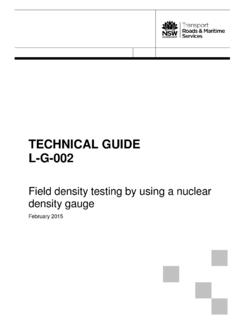 TECHNICAL GUIDE L-G-002 - Roads and Maritime Services