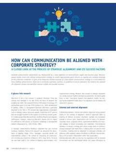 HOW CAN COMMUNICATION BE ALIGNED WITH …