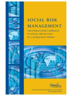 SOCIAL RISK MANAGEMENT - World Bank