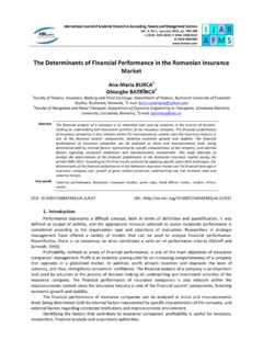 The Determinants of Financial Performance in the …
