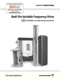 Redi-Flo Variable Frequency Drive Manual