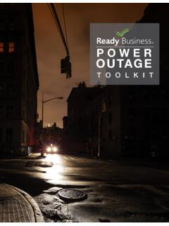 Ready Business Power Outage Toolkit - FEMA.gov