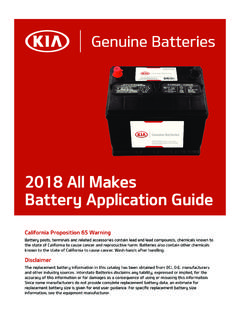 2016 All Makes Battery Application Guide - IBConnect Portal