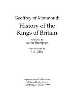 History of the Kings of Britain - York University