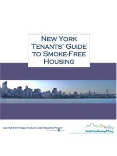 New York Tenant's Guide to Smoke-Free Housing