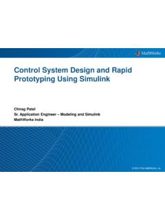 Control System Design and Rapid Prototyping Using Simulink