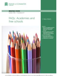 FAQs: Academies and free schools
