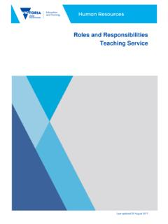 Roles and Responsibilities Teaching Service