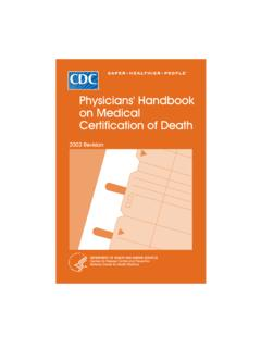 Physicians' Handbook on Medical Certification of Death (4 ...