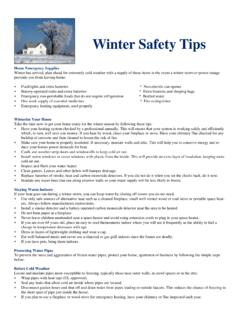 Winter Safety Tips - KDHE