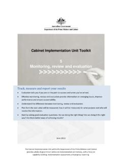 5 Monitoring, review and evaluation - Department of the ...