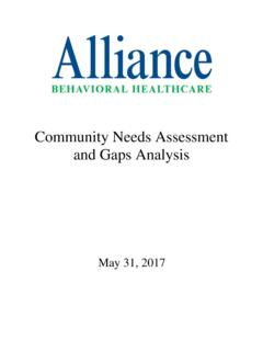 Community Needs Assessment and Gaps Analysis - Alliance …