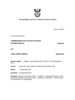 THE SUPREME COURT OF APPEAL OF SOUTH AFRICA