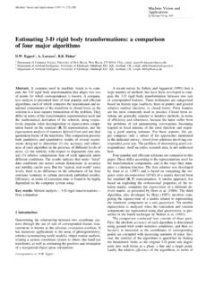 Estimating 3-D rigid body transformations: a comparison of ...