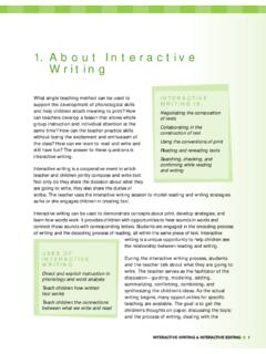 1. About Interactive Writing