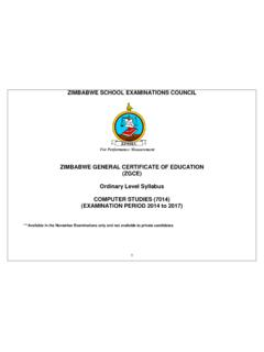 ZIMBABWE GENERAL CERTIFICATE OF EDUCATION (ZGCE) …