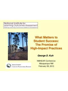 What Matters to Student Success: The Promise of High ...