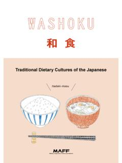 Traditional Dietary Cultures of the Japanese - maff.go.jp
