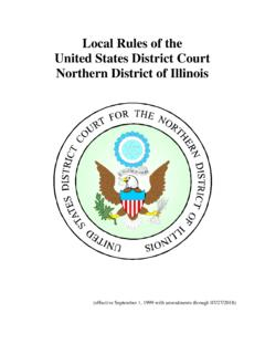 Local Rules of the United States District Court Northern ...