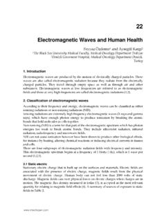 Electromagnetic Waves and Human Health - InTech