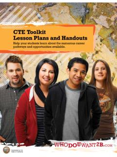 CTE Toolkit Lesson Plans and Handouts
