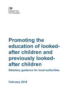 Promoting the education of looked-after children and ...