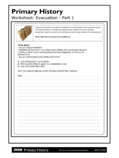 Worksheet: Evacuation - Part 1 - BBC