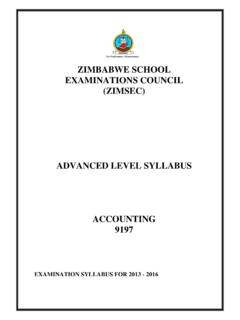 ZIMBABWE SCHOOL EXAMINATIONS COUNCIL (ZIMSEC)