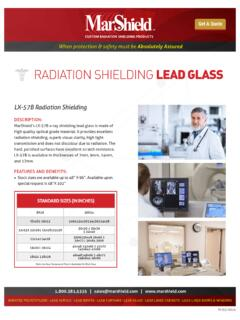 RADIATION SHIELDING LEAD GLASS - Lead Shielding …