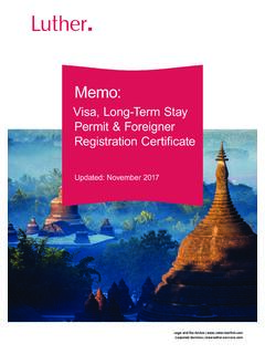 Visa, Long-Term Stay Permit & Foreigner