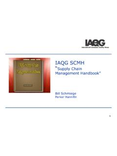 "IAQG SCMH """"Supply Chain Management …"