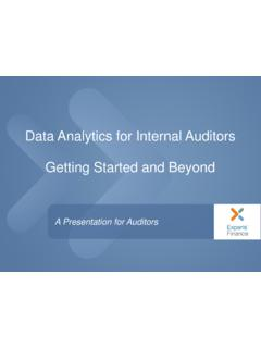 Data Analytics for Internal Auditors Getting Started and ...