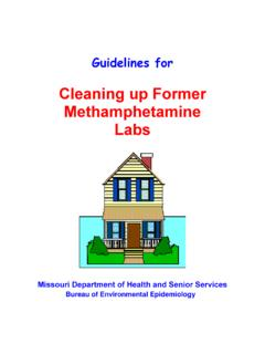 Cleaning up Former Methamphetamine Labs - Missouri