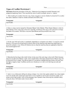 Types of Conflict Worksheet 1 - Free Reading Activities ...