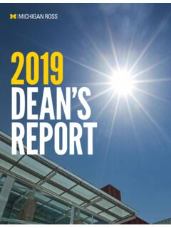 2019 DEAN'S REPORT - michiganross.umich.edu