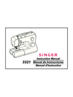 Instruction Manual 3321 - SINGER Sewing Co.