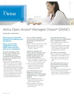 Aetna Open Access Managed Choice (OAMC) - Rogers Benefit