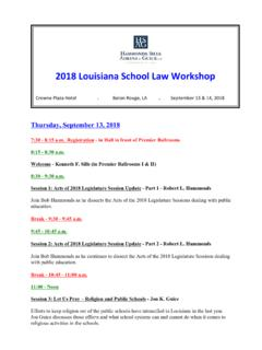 2018 Louisiana School Law Workshop - hamsil.com