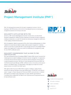SKILLSOFT'S AFFILIATION WITH PMI