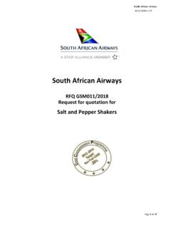 South African Airways - sa-tenders.co.za