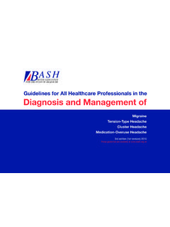 Guidelines for All Healthcare Professionals in the ...