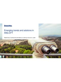 Emerging trends and solutions in AML/CFT - Deloitte US