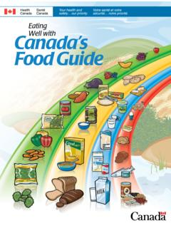 Eating CanadaWell with 's Food Guide