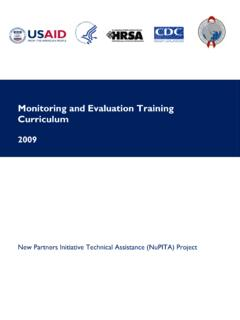 Monitoring and Evaluation Training Curriculum