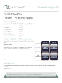 My EQ Action Plan Part One My Journey Begins