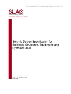 Seismic Design Specification for Buildings, Structures ...